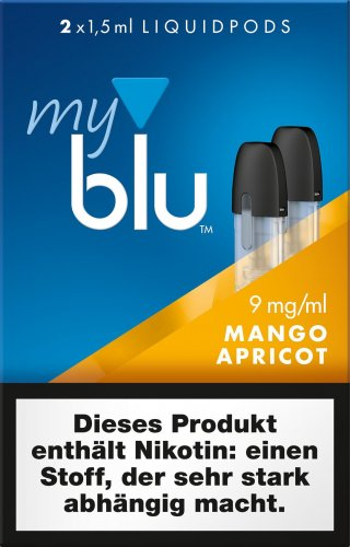 myblu Pods Mango Apricot 9 mg 2er Pack