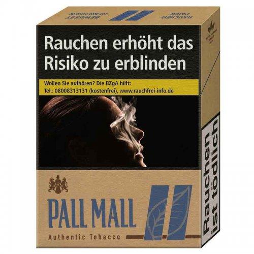 Pall Mall Authentic Blau XL ohne Zusätze (8x22)