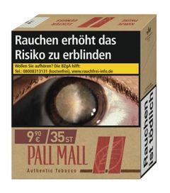 Pall Mall Authentic Red GIGA ohne Zusätze (1x33) Zigaretten