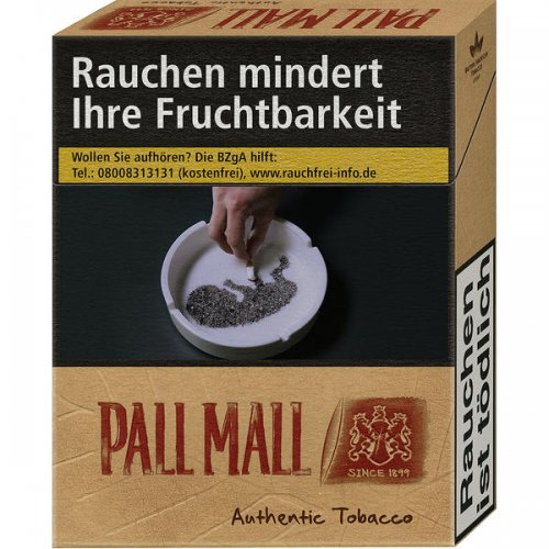 Pall Mall Authentic Red ohne Zusätze (10x20)