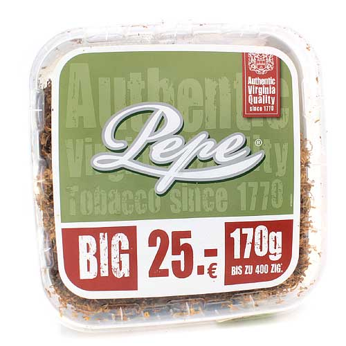 Pepe Tabak ohne Zusatzstoffe Virginia 170g Eimer Volumentabak