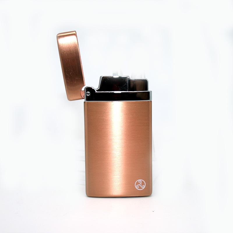 Rattrays Feuerzeug Alfie Rose Gold Satin, elektronisch
