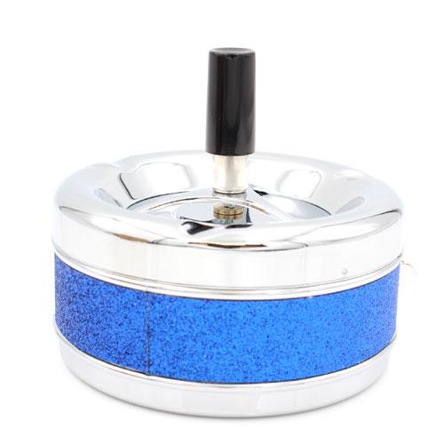 Schleuderascher Metall Glitzer Blau