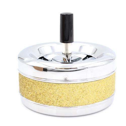 Schleuderascher Metall Glitzer Gold