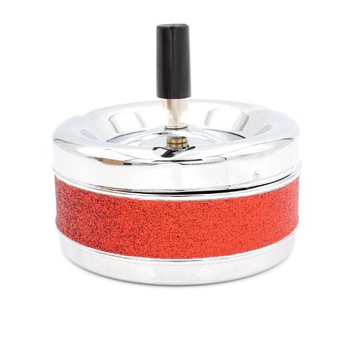 Schleuderascher Metall Glitzer Rot