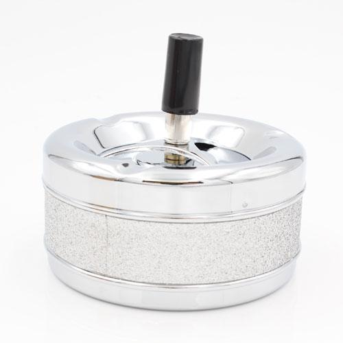 Schleuderascher Metall Glitzer Silver