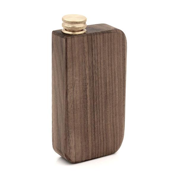 Schnupftabakdose Naturholz Walnuss mit Messingverschluss