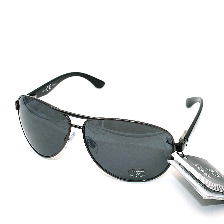 Sonnenbrille von Zippo, schwarz mit Satinbeutel