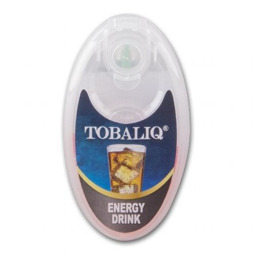 Tobaliq Energy Drink Aromakapseln 1x100 Stück mit Stick