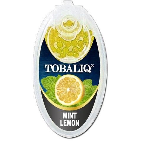 Tobaliq Mint Lemon Aromakapseln 1x 100 Stück mit Stick