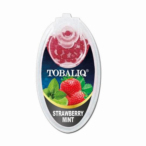 Tobaliq Strawberry Mint Aromakapseln 1x100 Stück mit Stick