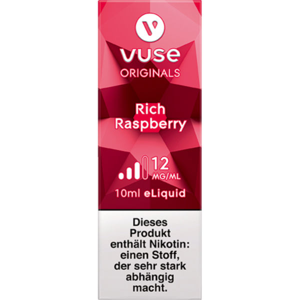 Vuse Bottle Rich Raspberry 12mg Liquid