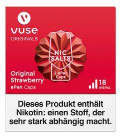 Vuse ePen 3 Caps vPro original strawberry 18mg Nikotin