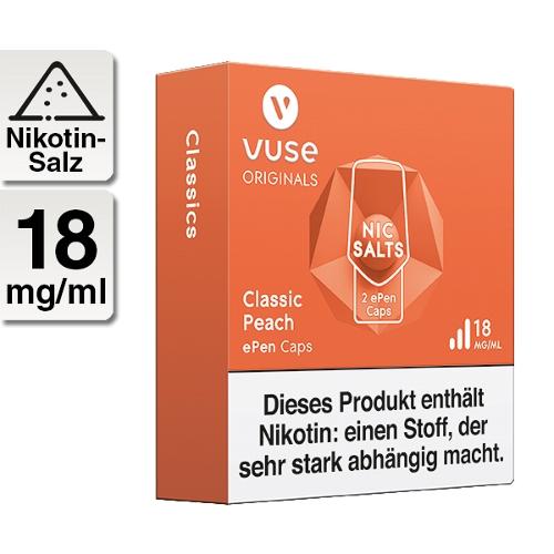 Vuse ePen Caps classic peach 18mg Nikotin