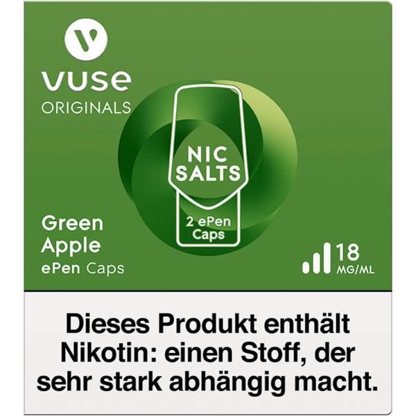 Vuse ePen Caps green apple Nic Salts 18mg Nikotin