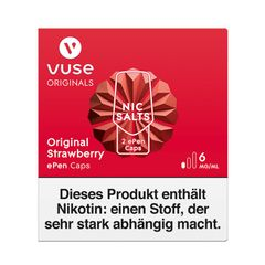 Vuse ePen Caps Original Strawberry 6mg Nic Salts