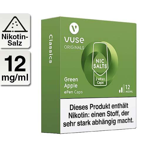 Vuse ePen Caps vPro green apple 12mg Nikotin