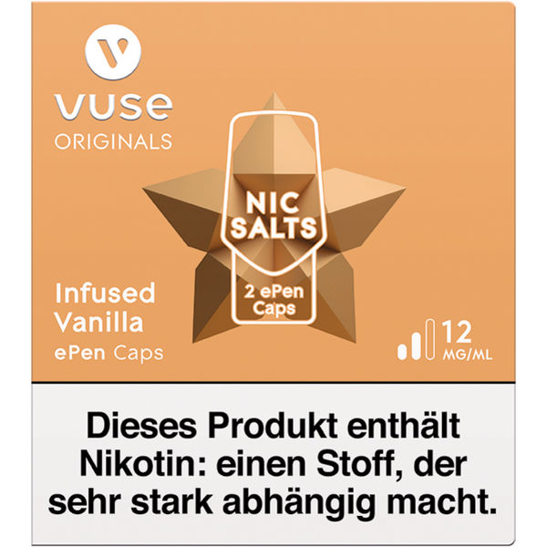 Vuse ePen Caps vPro infused vanilla 12mg Nic Salts