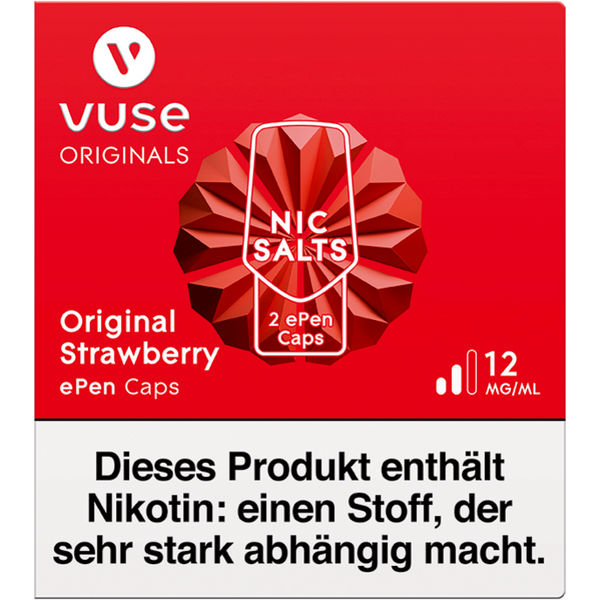 Vuse ePen Caps vPro original strawberry 12mg Nikotin