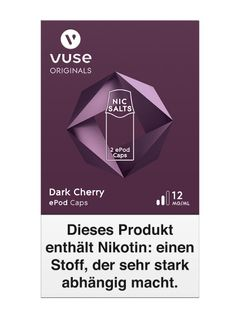 Vuse Dark Cherry ePod 12mg Nikotin