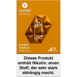 Vuse ePod Caps Golden Tobacco Nic Salts 18mg