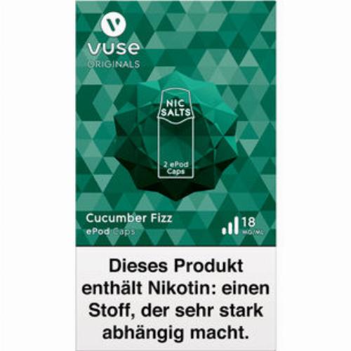 Vuse ePod Caps Nic Salts Cucumber Fizz 18mg