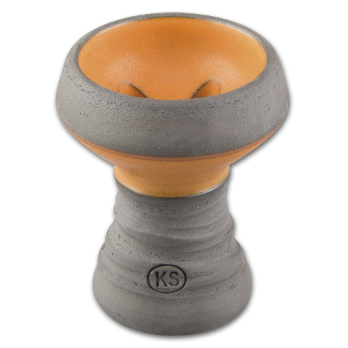 Wasserpfeifen Ersatzkopf KS Apps grau / orange 7,5 cm