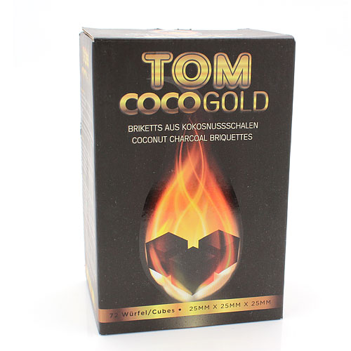 Wasserpfeifenkohle Kokosnuss TOM Cococha Gold 1 kg