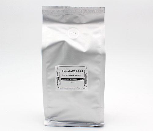 Werksbrandt Kaffee Bistro-Caffe 80-20 Arabica Bohnen 1 Kg