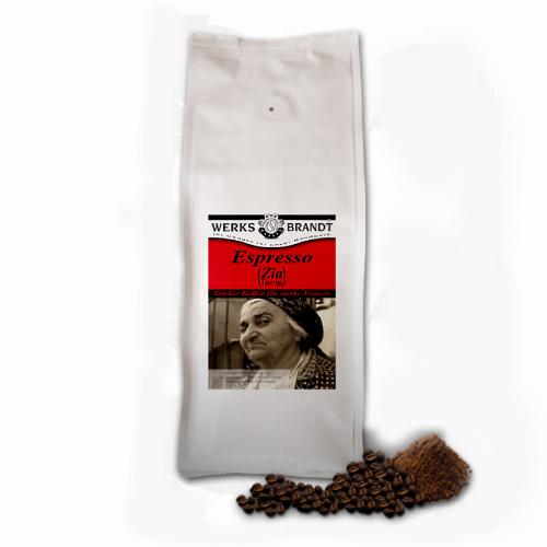 Werksbrandt Kaffee Espresso (Zia Tante) 1 kg Bohnen