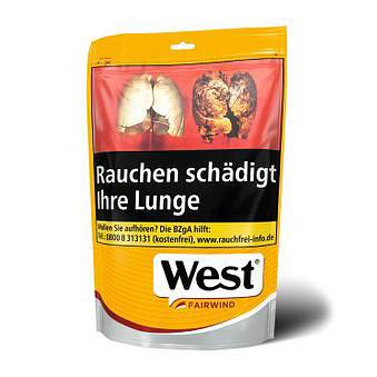 West Yellow Tabak (Fairwind) 155g Zip-Beutel Volumentabak
