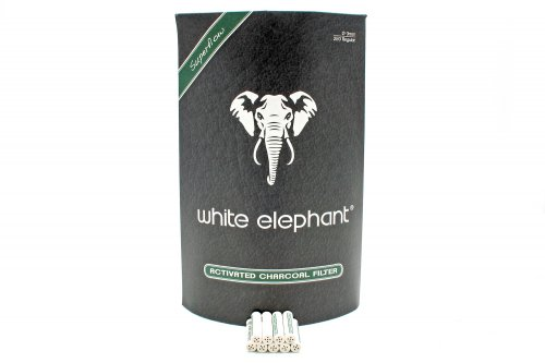 White Elephant 250 Activated Charcoal Filter 9mm Jumbo