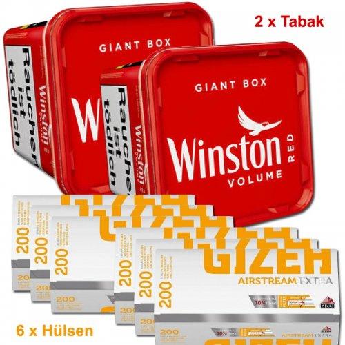 Winston 560g Tabak + Gizeh 1200 Hülsen Sparpaket