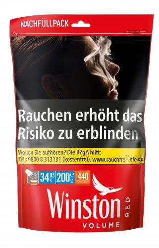 Winston Tabak Rot 185g Beutel Volumentabak