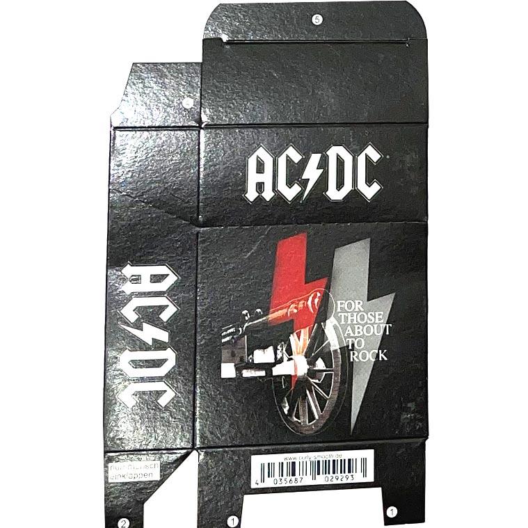Zigaretten-Faltschachtel AC/DC Kanonen Motiv 25er