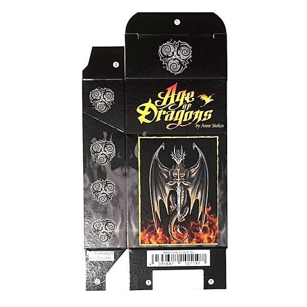 Zigaretten-Faltschachtel Age of Dragons Grau 20er