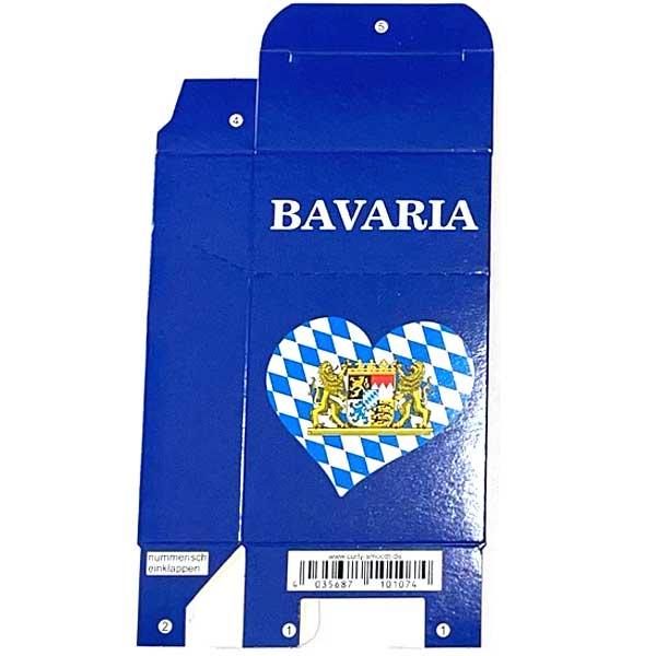 Zigaretten-Faltschachtel Bavaria Herz Motiv 20er