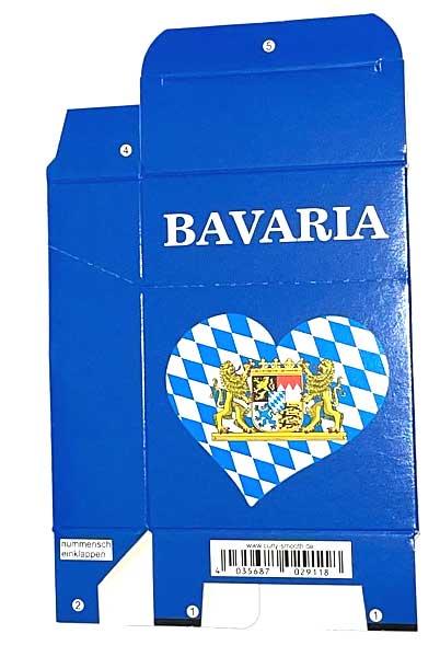 Zigaretten-Faltschachtel Bavaria Herz Motiv 25er