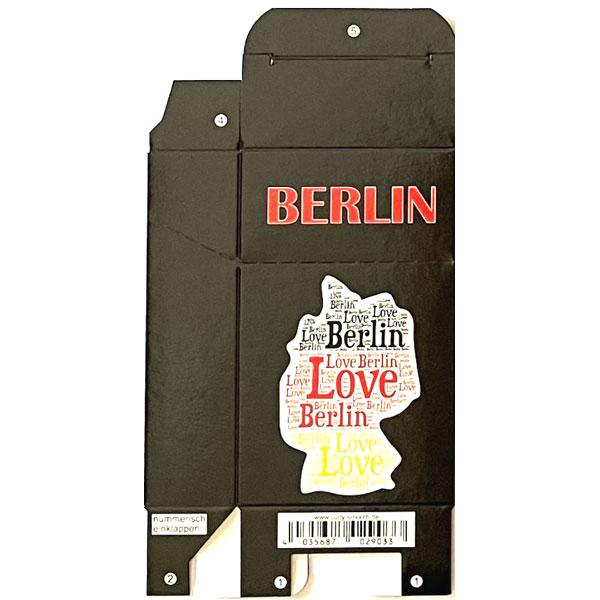 Zigaretten-Faltschachtel Berlin Love Motiv