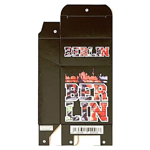 Zigaretten-Faltschachtel Berlin Mauer Motiv