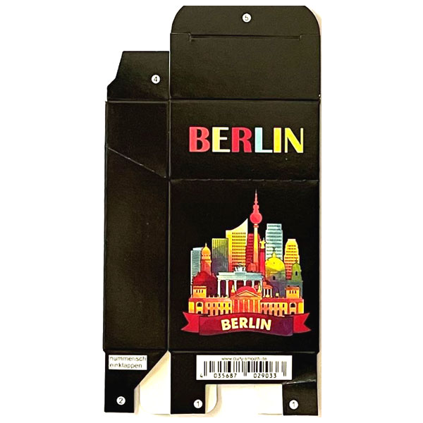 Zigaretten-Faltschachtel Berlin Silouette Motiv