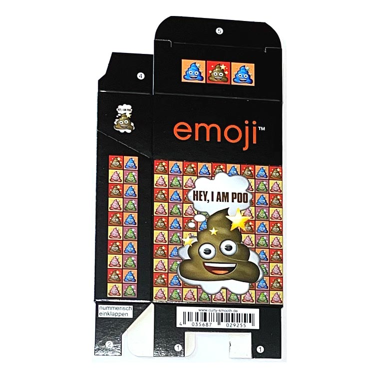 Zigaretten-Faltschachtel Emoji Poo Motiv 25er
