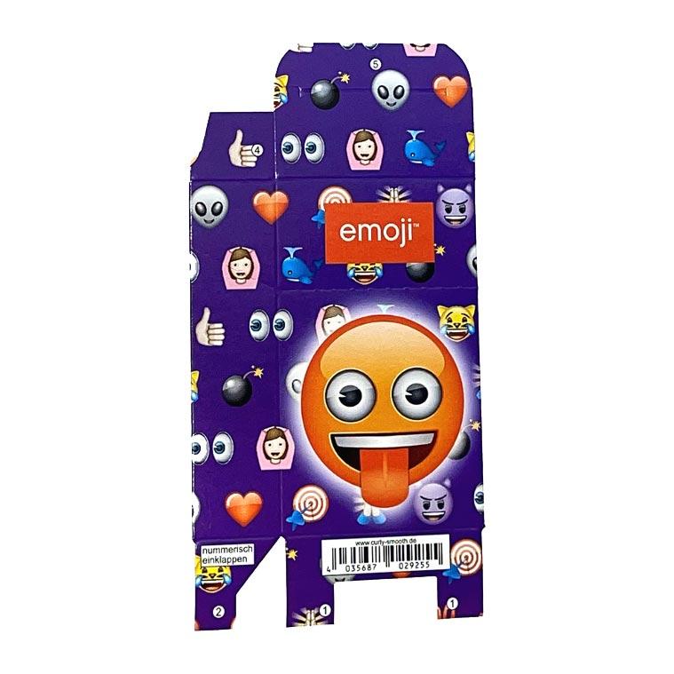 Zigaretten-Faltschachtel Emoji Zunge Motiv 25er