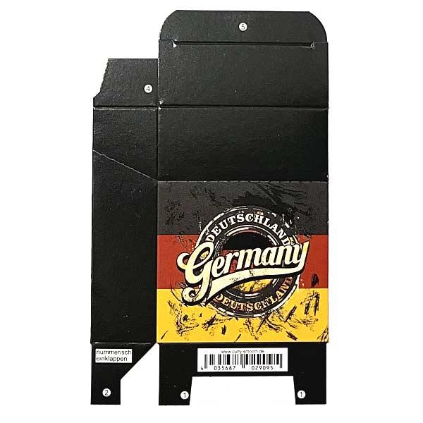 Zigaretten-Faltschachtel Germany Flagge Motiv 25er