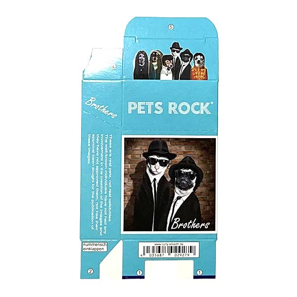 Zigaretten-Faltschachtel Pets Rock Brothers Motiv