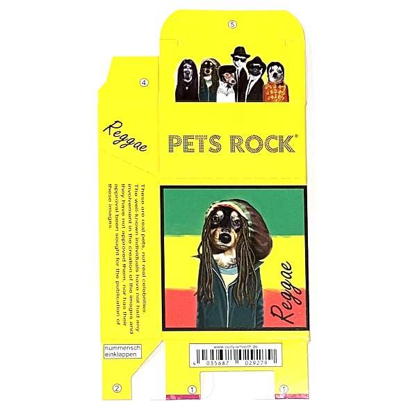 Zigaretten-Faltschachtel Pets Rock Reggae Motiv