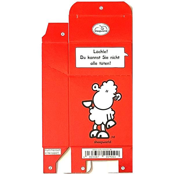 Zigaretten-Faltschachtel sheepworld Lächle Motiv