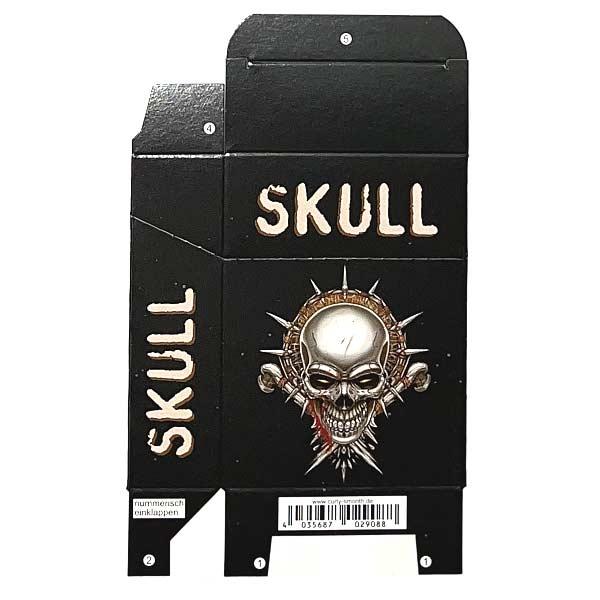 Zigaretten-Faltschachtel Skull Braun Motiv
