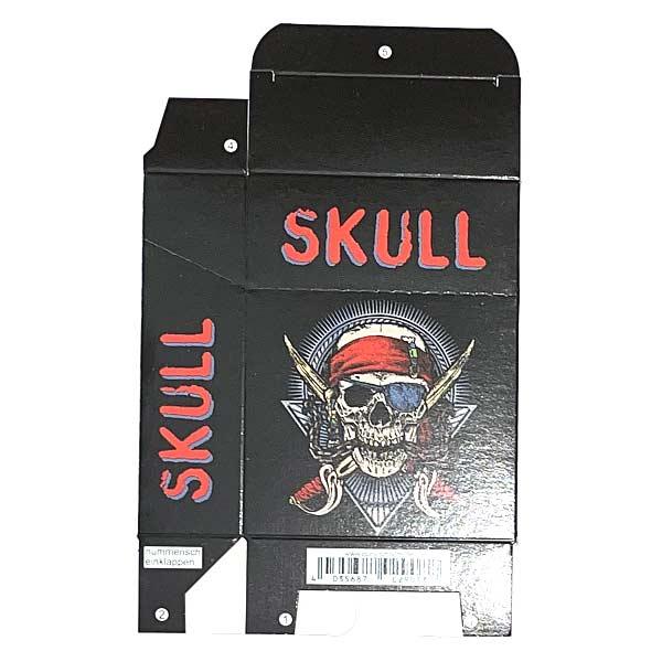 Zigaretten-Faltschachtel Skull rot Motiv