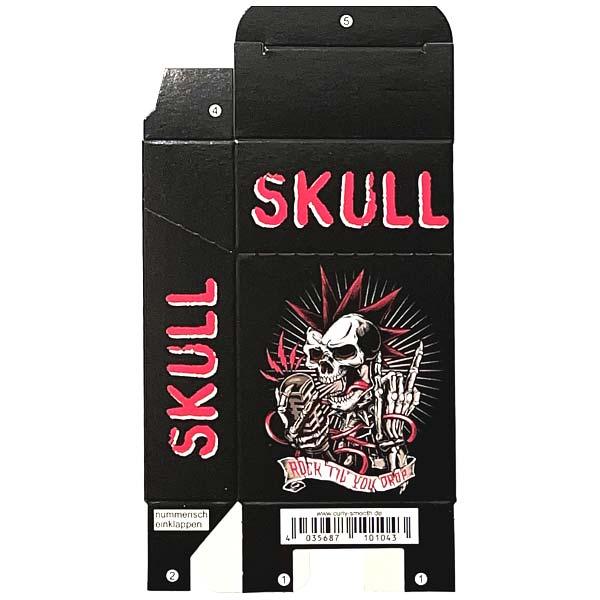 Zigaretten-Faltschachtel Skull rot-weiß 20er